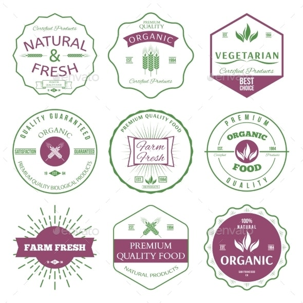 Labels and Badges - Food Objects
