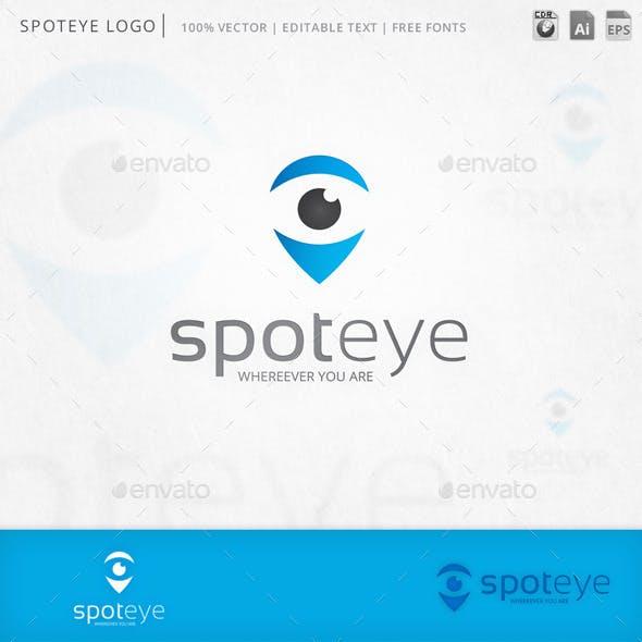 Spoteye Eye Locator Logo Template