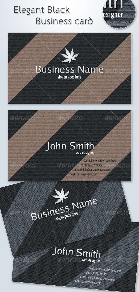 Elegant Black Business Card - Retro/Vintage Business Cards