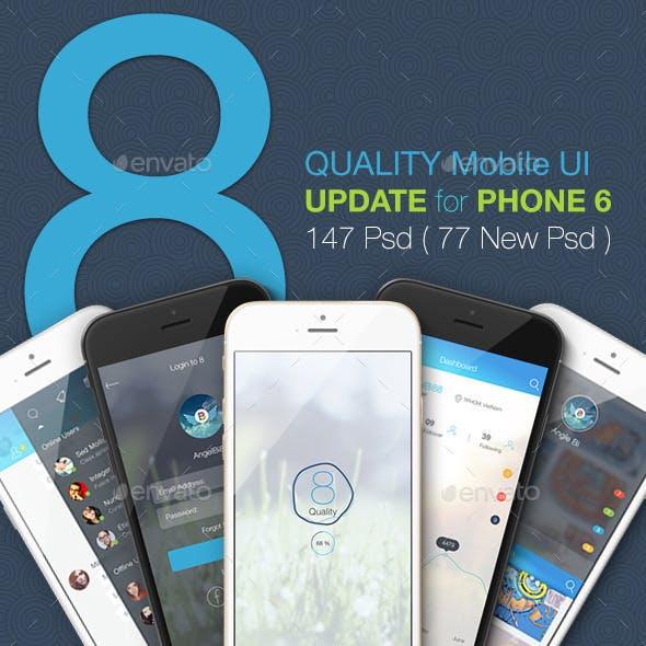 8 Part 1 2 3 Bundle Mobile UI Kit