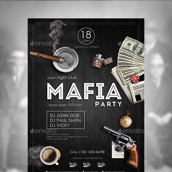 Mafia Flyer Poster