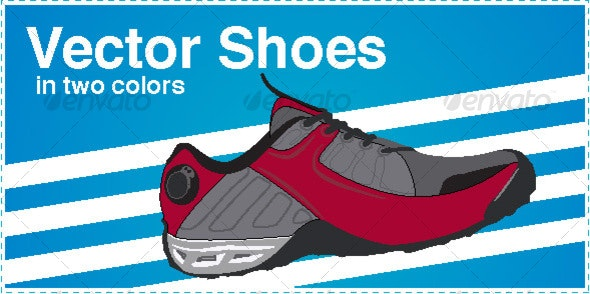 Pair of Vector shoes - Man-made Objects Objects