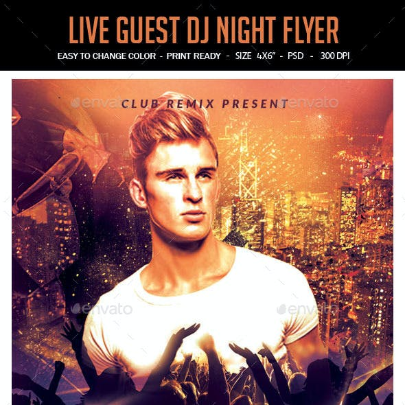 Live Guest Dj Night Flyer