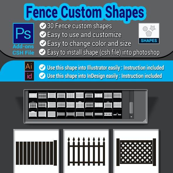 Fence Custom Shapes