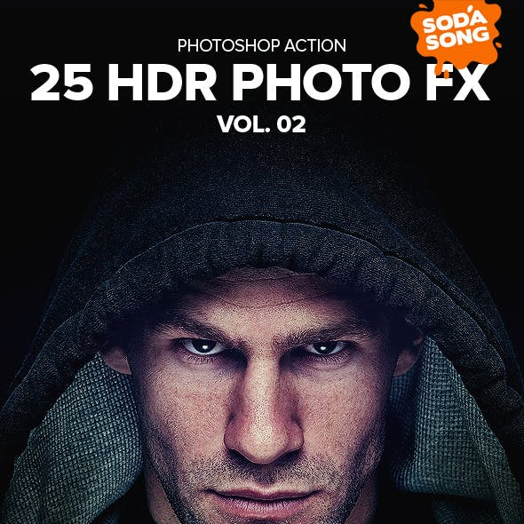 25 HDR Photo FX V.2 - Photoshop Action