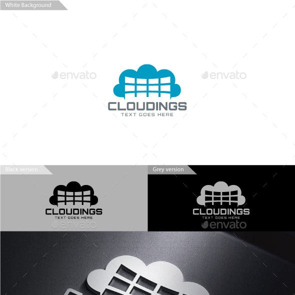 Cloudings Logo by designhatti