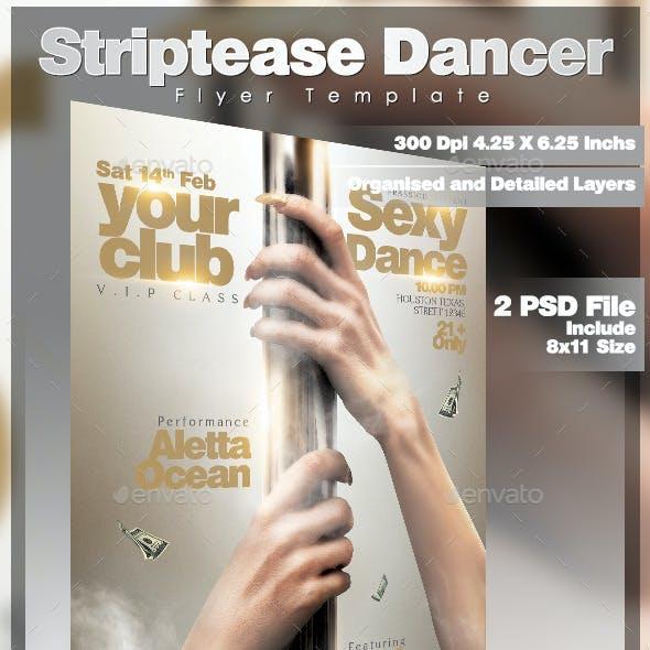 Striptease Dancer Flyer Template