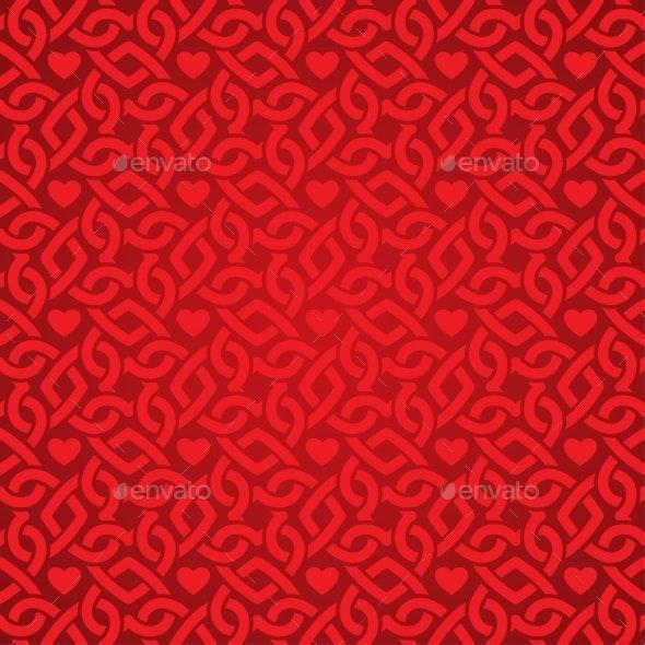 Red Pattern - Valentines Seasons/Holidays