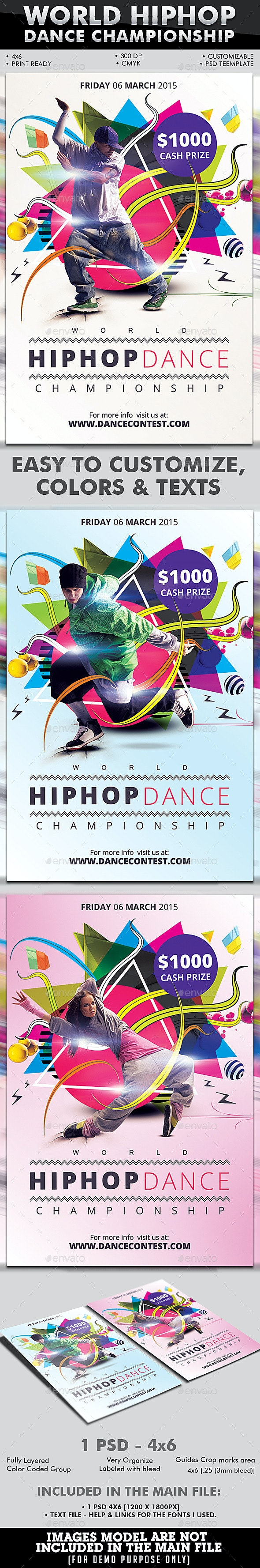 World Hiphop Dance Championship - Events Flyers
