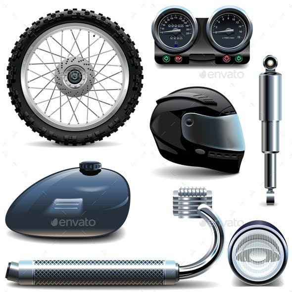 Motorcycle Spares Icons
