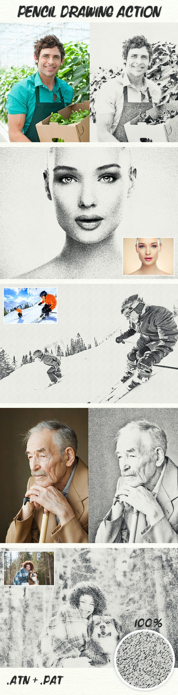 Pencil Drawing Action - Photo Effects Actions