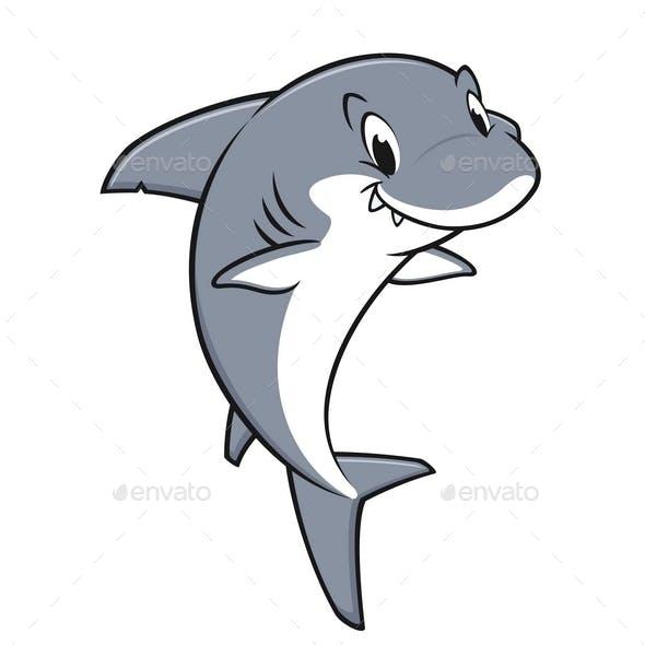 Cartoon Friendly Shark