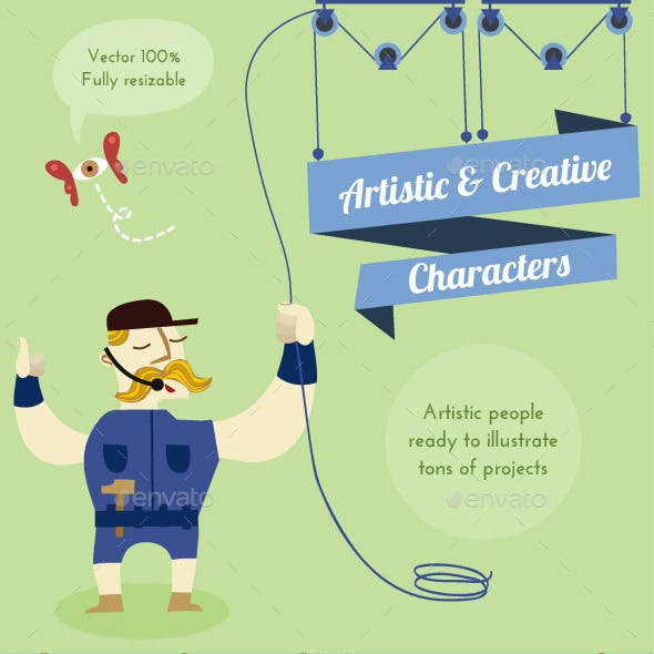 Artistic and Creative Characters Pack