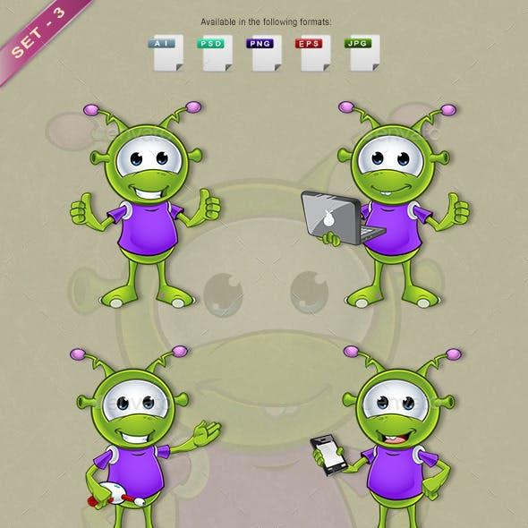 Little Green Alien – Set 3
