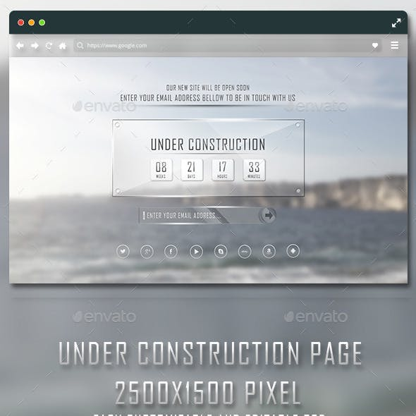 Under Construction Glass Page