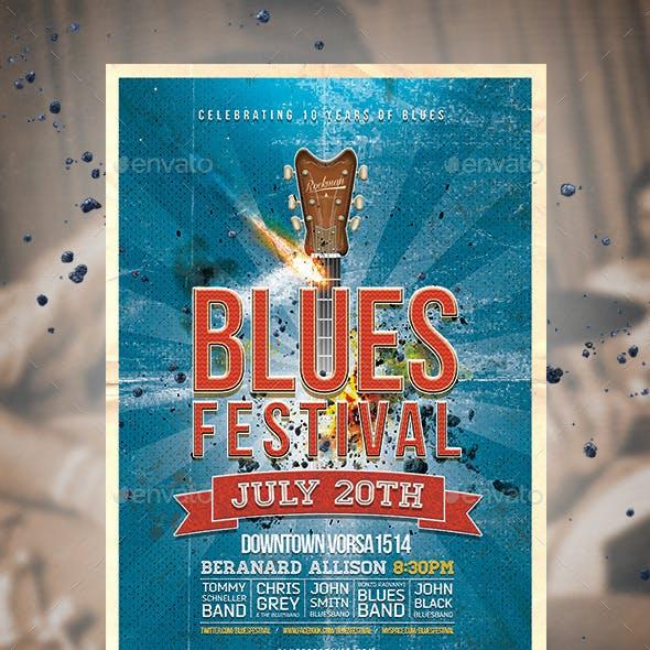 Blues Festival Vintage Flyer