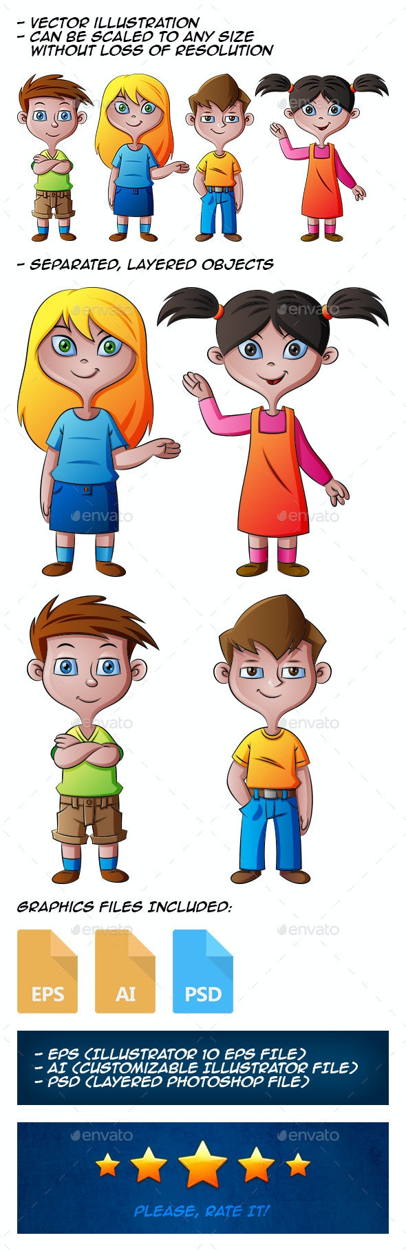 Kids - People Characters