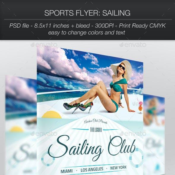 Sports Flyer: Sailing