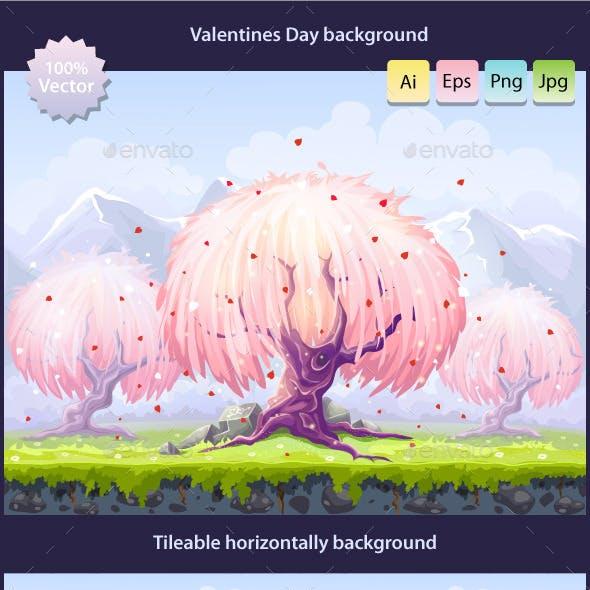 Tillable Valentine's Day background