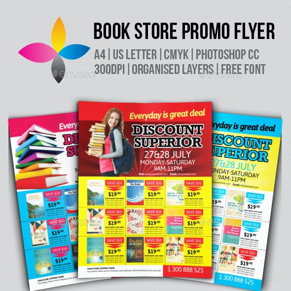 Book Store Promo Flyer