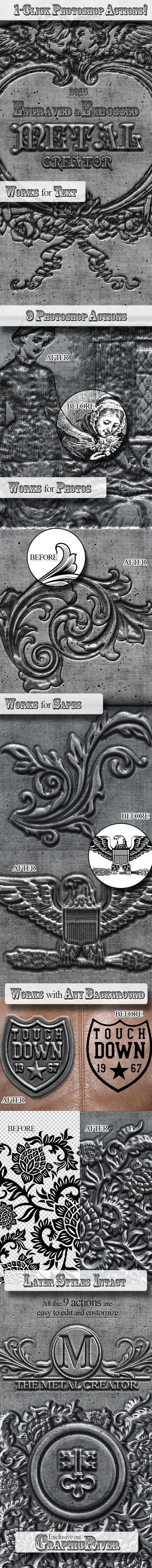 Engraved Metal Photoshop Creator