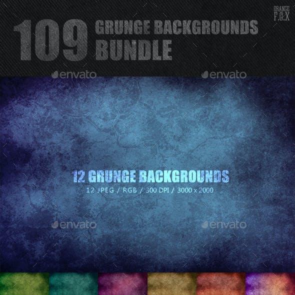 109 Grunge Backgrounds Bundle