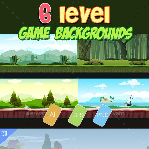 6 level game backgrounds