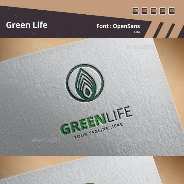 Green Life Logo Template