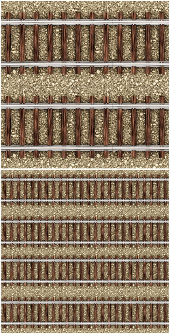 Train Rail Seamless Pattern - Industrial & Science Isolated Objects