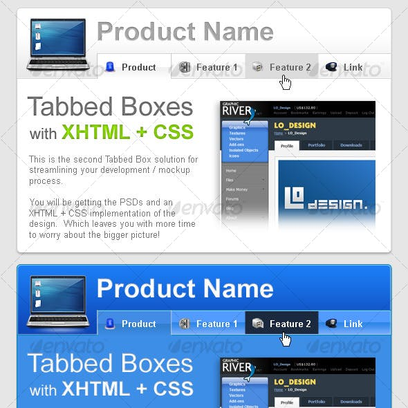 Tabbed Boxes with XHTML + CSS Part 2