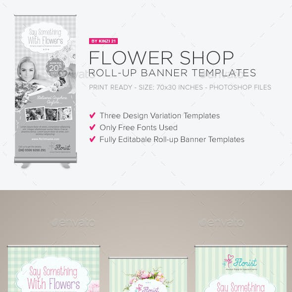 Flower Shop Roll-up Banners