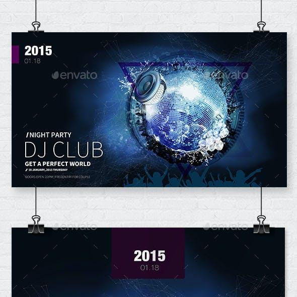 Club DJ Flyer Template PSD