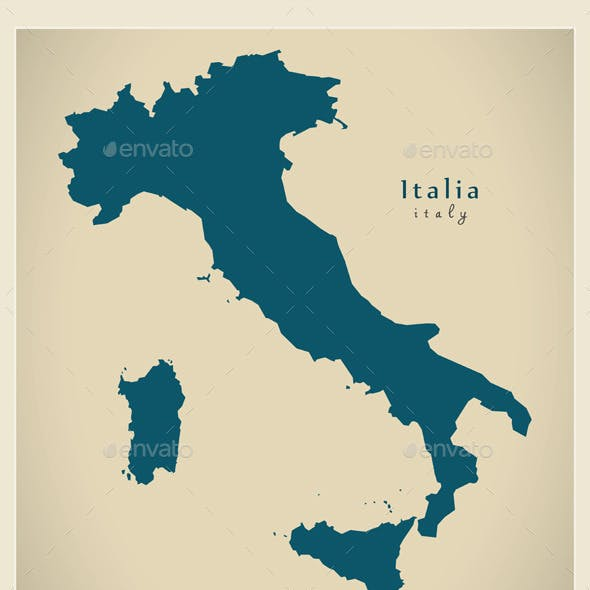 Modern Maps - Italy