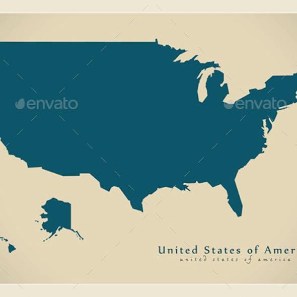 Modern Maps - USA
