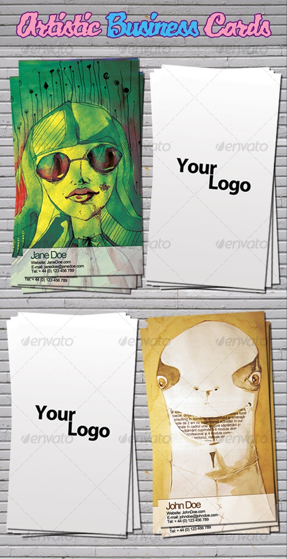 Artistic Business Cards - Business Cards Print Templates