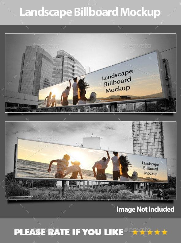 Landscape Billboard Mockup - Signage Print