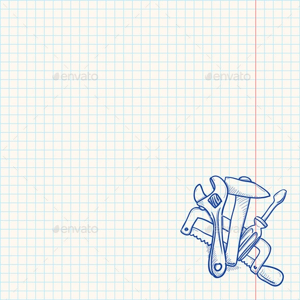 Maintenance Tools Drawing - Backgrounds Decorative