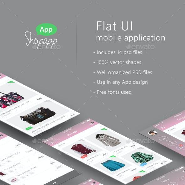 Shopapp - Flat Mobile App UI -  Shopping