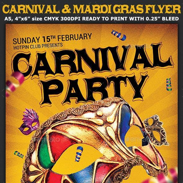 Carnival n Mardi Gras Party Flyer v4