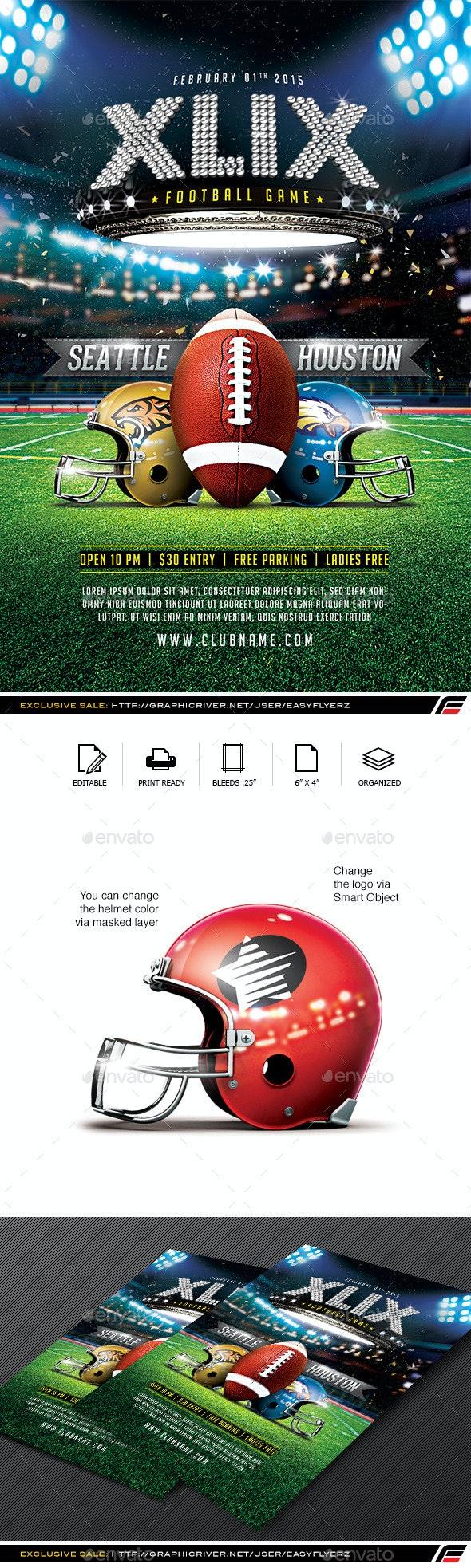 XLIX Football Game Flyer Template - Sports Events