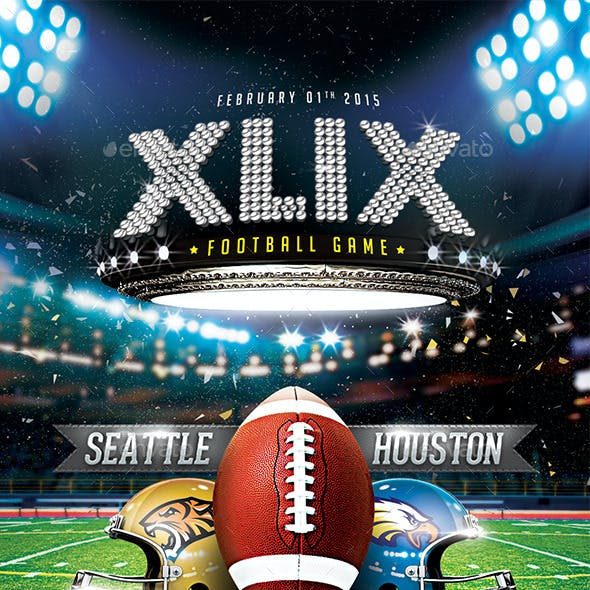 XLIX Football Game Flyer Template
