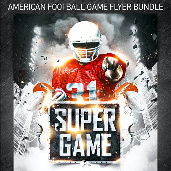 American Football Game Flyer Bundle
