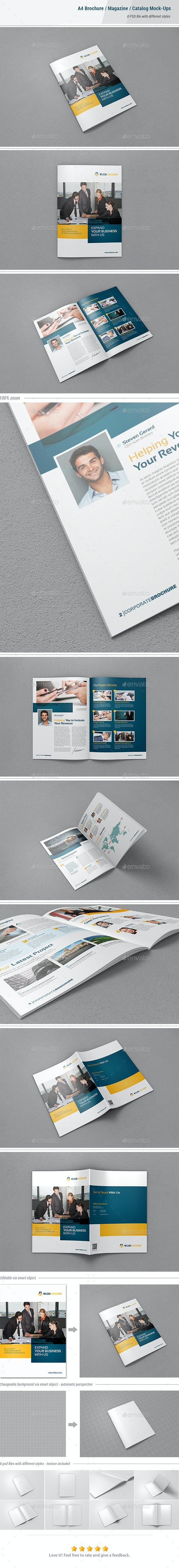 A4 Brochure & Magazine Mock-Ups - Brochures Print
