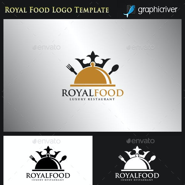 Food Logo - Royal Food - Luxury Restaurant