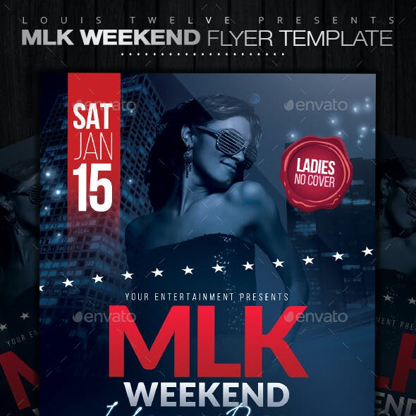 MLK Weekend or 4th of July Party Flyer