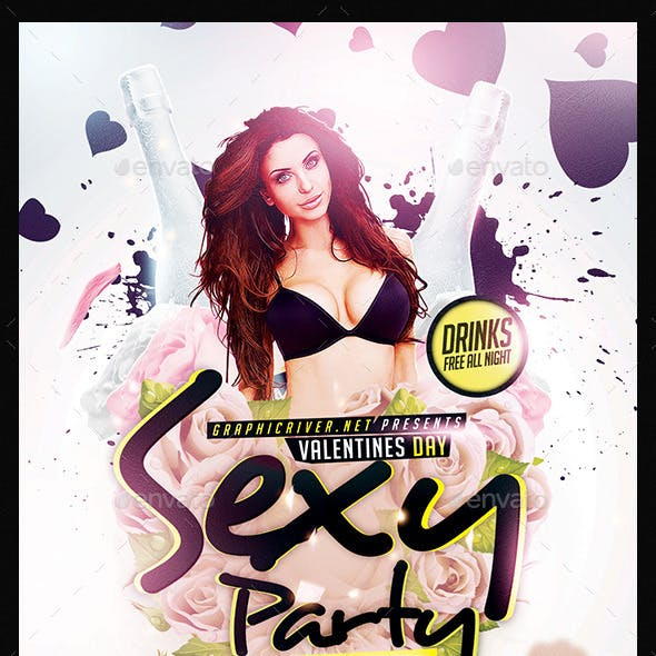 Valentines Day Sexy Party | Flyer Template PSD