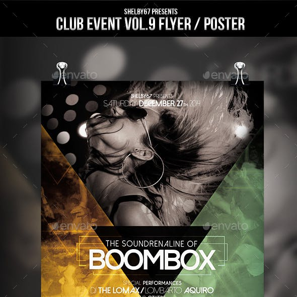 Club Event Flyer / Poster Vol.9