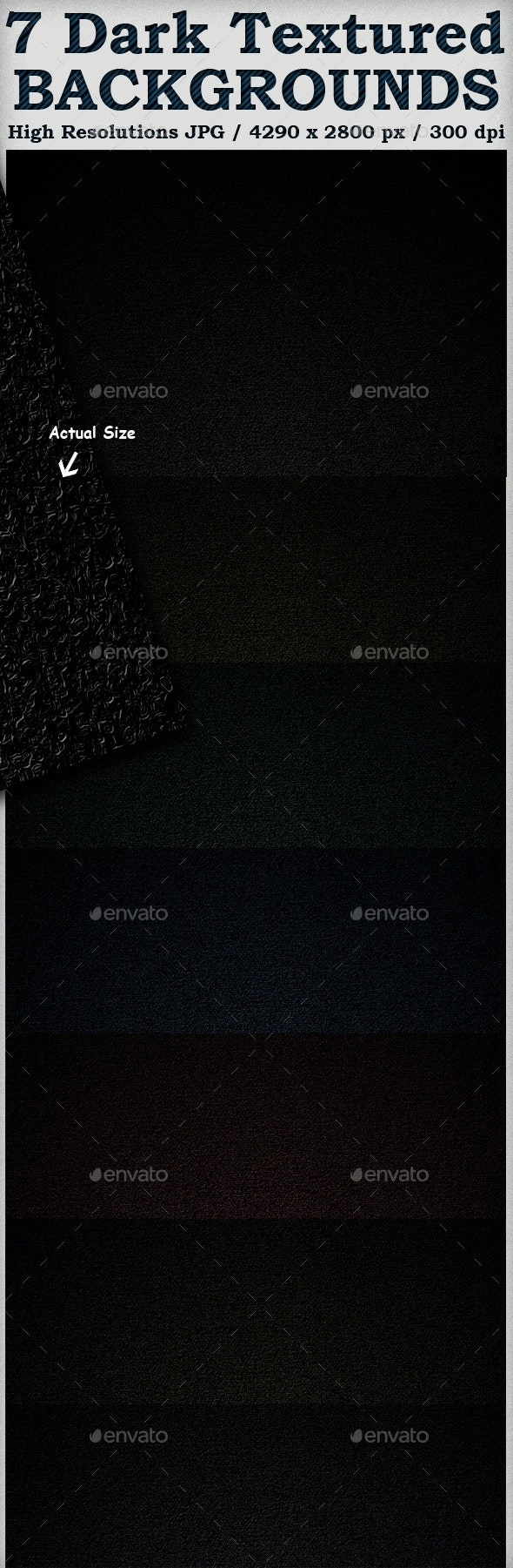 7 Dark Textures - Industrial / Grunge Textures