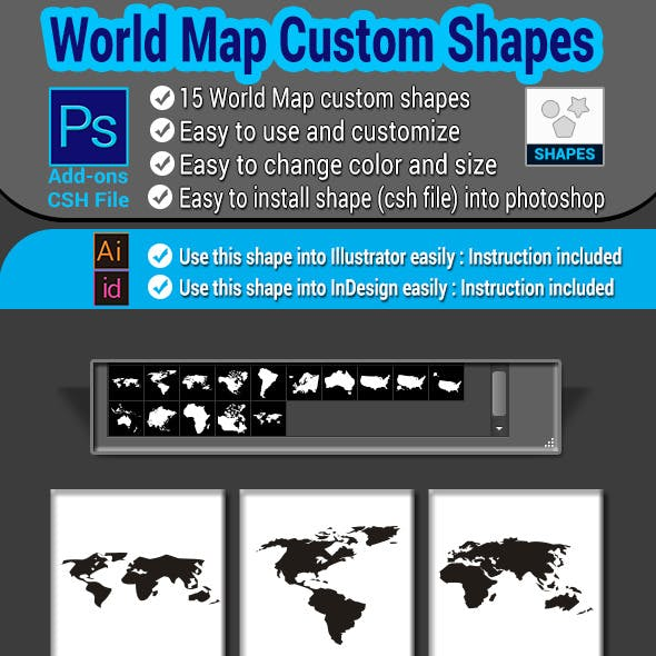 World Map Custom Shapes