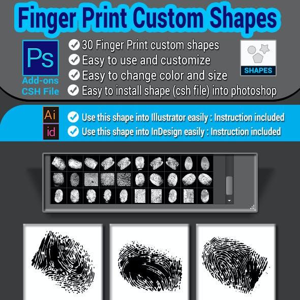 Finger Print Custom Shapes